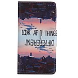 City Dusk Painted PU Phone Case for Huawei P8 Lite/P8