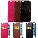 KARZEA™ Solid PU Leather Back Cover Case with Card Holder for iPhone 6/6S(Assorted Colors)