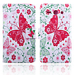Butterfly Pattern Card Stand Leather Case for Huawei Y530/Y550