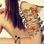Hourglass Tattoo Original Flowers  Waterproof Flower Arm Temporary Tattoos Stickers Non Toxic Glitter