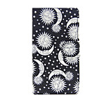 Printed Sun Moon and Stars PU Leather Wallet Full Body Case with Stand for Sony Xperia M4 Aqua