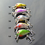 Anmuka Crank 3CM 1.5G 5colors Lifelike  Fishing Lures Hard Bait  Treble Hook 10# Fishing Tackle Lure fishing bait