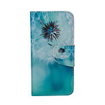 Dandelion Pattern Card Stand Leather Case for iPhone 6/6S