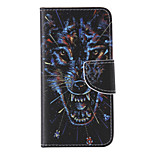 The New  Wolf PU Leather Material Flip Card Cell Phone Case for iPhone 6 /6S