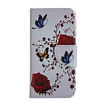 Rose Pattern Card Stand Leather Case for iPhone 6/6S