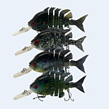 4pcs/lot New 4 Inches 14 Grams Floating  Crappie Swimbait Crankbait Artificial Bait  Fishing Lure