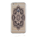 Take Black Restoring Ancient Ways Pattern Transparent Phone Case Back Cover Case for iPhone6/6S