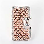 cristalina bling de lujo&casos de diamantes bolso del cuero del tirón para el iphone 5 (color clasificado)