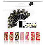 1Pcs Hot Models Golden 3D Metal Nail Sticker Manicure Sticker Decal Shell Pet Phototherapy Glue 4 Optional
