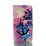 Anchor Pattern Card Stand Leather Case for iPhone 6/6S