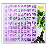 1Pcs Hot Nail Polish Sticker Manicure 3D Stickers Decals Phototherapy Glue Purple 4 Pet Carapace