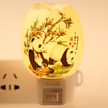 Panda-patterned  Ceramic Lamp Night Light  Bdeside Lamp Fragrance Festival Gift