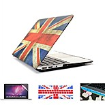 4 in 1  Retro  Flag Full Hard Plastic Cover+ Keyboard Cover+ Screen Protector + Dust Plug for Macbook Pro/13