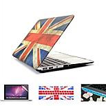 4 in 1 Retro Flagge Vollhartplastikhülle + Tastatur-Abdeckung + Schutzstaubstecker für MacBook Pro / 13