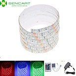 5M 75W 300x5050 RGB SMD LED DC12V IP68 Waterproof Strip Light + 24Key Remote Control RGB + 12V 2A power AC100-240V