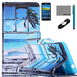 COCO FUN® Window Pattern PU Leather Case with V8 USB Cable, Flim and Stylus for Samsung Galaxy Grand Prime G530