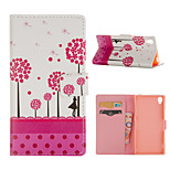 Tree Pattern Card Stand Leather Case for Sony Xperia Z3/Z4