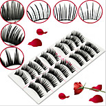 10Pairs False Eyelashes Set And 1PCS Special Glue