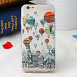 Balloon City Pattern TPU Soft Back Cover for iPhone 6/6S