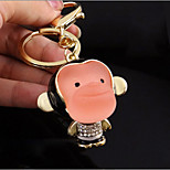 New Lovely Mouth Monkey Zodiac Keychain Package Upscale Diamond Key Pendant /Ring / Ring Gift to Send Girls