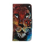 Lion Pattern Card Stand Leather Case for iPhone 6/6S