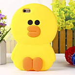 The New Three-Dimensional Super Meng Duck Green Silicone Phone Case for iPhone 6 /6S