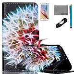 COCO FUN® Rainbow Dandelion Pattern PU Leather Case with V8 USB Cable, Film and Stylus for Samsung Galaxy S6