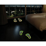 Luminous Wall Stickers Wall Decals, Lovely Footprint PVC Wall Stickers