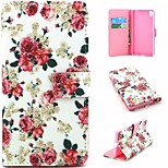 Embossed PU Leather Holster Folio Case Waterproof Case for  Sony Xperia Z5
