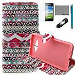 COCO FUN® Tribal Rose Pattern PU Leather Case with V8 USB Cable, Flim and Stylus for Samsung Galaxy A5