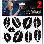 Temporary Tattoos Stickers Non Toxic Glitter Waterproof Multicolored Glitter 1 Package 17*16CM Watch