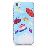 Umbrella Pattern Waves Slip Handle TPU Soft Phone Case for iPhone 5C