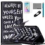 coco Fun® sich Muster PU-Lederetui mit V8-USB-Kabel, flim, Stift sein und stehen für Samsung Galaxy S6 Kante