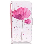 HZBYC®Classic Flowers Pattern PU Material Card Lanyard Case for iPhone 6/6S