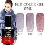 1PCS KOUYI Fur Color Gel 12Colors 15ml Long Lasting Nail Polish 7-9