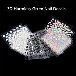 - Finger - 3D Nails Nagelaufkleber / Nail Schmuck - Kunststoff - 30Pcs Stück - 5*3 cm
