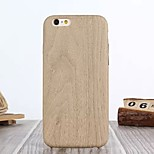 High Class PU Leather Luxury Original Wood Grain Back Cover Case for iPhone 6/6S(Assorted Colors)