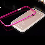 Backplane Metal Frame Transparent TPU Phone Case for iPhone 6/6S (Assorted Colors)