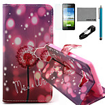 COCO FUN® Firefly Dandelion Pattern PU Leather Case with V8 USB Cable, Flim and Stylus for Samsung Galaxy A5