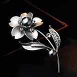 Korean Jewelry Pearl Brooch Retro Flower Branch