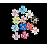 DIY fashion 3D nail stickers with stereo clover nail stickers anagallis (1Set =12)