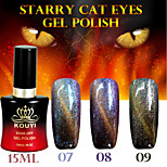 1PCS Starry Cat Eyes Color Gel 15ml 12Colors Long Lasting Nail Polish 7-9
