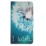 White Dandelion Painted PU Phone Case for Huawei P8 Lite/P8