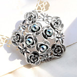 The High-End Brand Pearl Brooch  Spray Silver Wreath With Retro