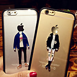 Beautiful Girl And Cool Man Pattern Hard And Soft TPU Case for iPhone 4/4s