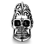 Ring Jewelry Steel Skull / Skeleton Classic Black Jewelry Wedding Party Halloween Daily Casual 1pc