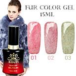 1PCS KOUYI Fur Color Gel 12Colors 15ml Long Lasting Nail Polish 1-3