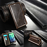 CaseMe Luxury Genuine Leather Wallet Card Slot Cover Flip Case With Stand For HTC One M9 (Assorted Colors)