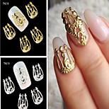 10PCS  Gemerlapnya Paduan  Nail Art Irisan Diy Perhiasan