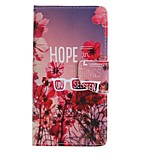 Red Flower Painted PU Phone Case for Huawei P8 Lite/P8